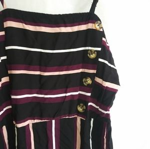 5/$25 Xhilaration Striped Button Dress